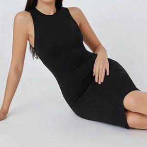 VELVET TORCH black bodycon midi dress Sz Lg